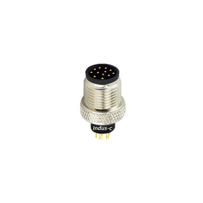 12pins, M12 A code male moldable connector